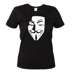 V per Vendetta - T-Shirt Nera V for Vendetta Donna