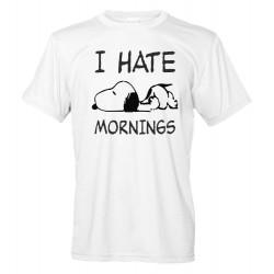 I Hate Mornings - Maglietta Uomo