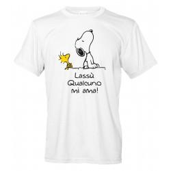 Lassù Qualcuno mi Ama - Snoopy e Woodstock - Maglietta Uomo