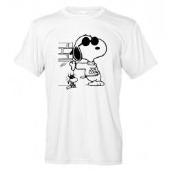 Snoopy e Woodstock - T-Shirt Bianca Joe Cool