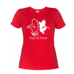 Angel & Demon - T-Shirt Donna Angelo e Demone