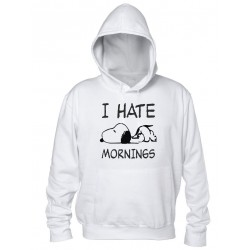 I Hate Mornings - Felpa Uomo
