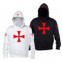 Felpa Crociata Cappuccio Templare