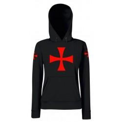 Felpa Crociata Cappuccio Templare Donna