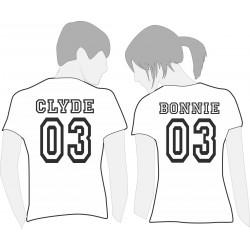 Bonnie & Clyde - Coppia Magliette Uomo e Donna