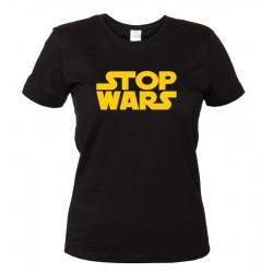 Stop Wars - Maglietta Nera Donna