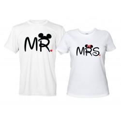 Mr e Mrs - Coppia Magliette Uomo e Donna Divertenti