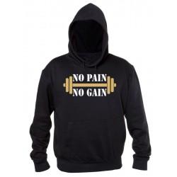 No Pain No Gain - Felpa Fitness Palestra Uomo
