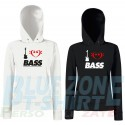 I Love Bass - Felpa Donna Bassista