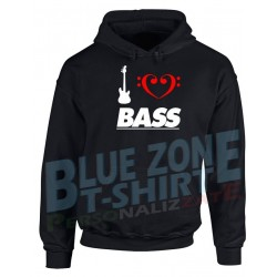 I Love Bass - Felpa Bassista