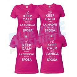 Keep Calm Sono L'Amica della Sposa - Maglietta Addio al Nubilato