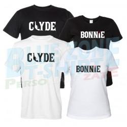 Bonnie & Clyde - Coppia Magliette Uomo e Donna Fronte
