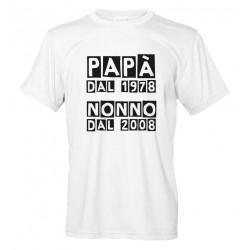 Papà dal... Nonno dal... Maglietta Personalizzata