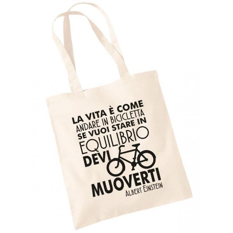 La Vita è come andare in Bicicletta - Shopper Ciclista