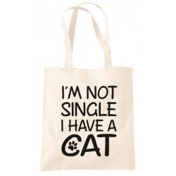 I'm Not Single I Have a Cat - Sopper Borsa Divertente