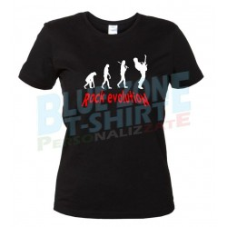 Rock Evolution - T-Shirt Donna Nera