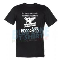 Il Meccanico - Maglietta Personalizzata Nome