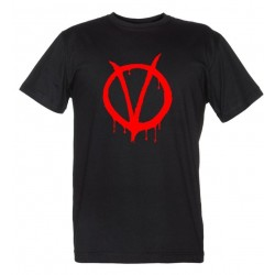 V per Vendetta maglietta Logo Rosso