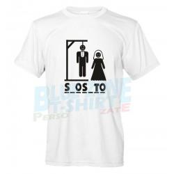 Gioco dell'Impiccato - Maglietta Addio al Celibato Divertente