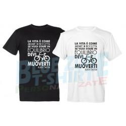 La Vita è come andare in Bicicletta - Maglietta Ciclista