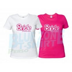 Magliette Addio al Nubilato Bride Squad Personalizzate Bianche - Fucsia