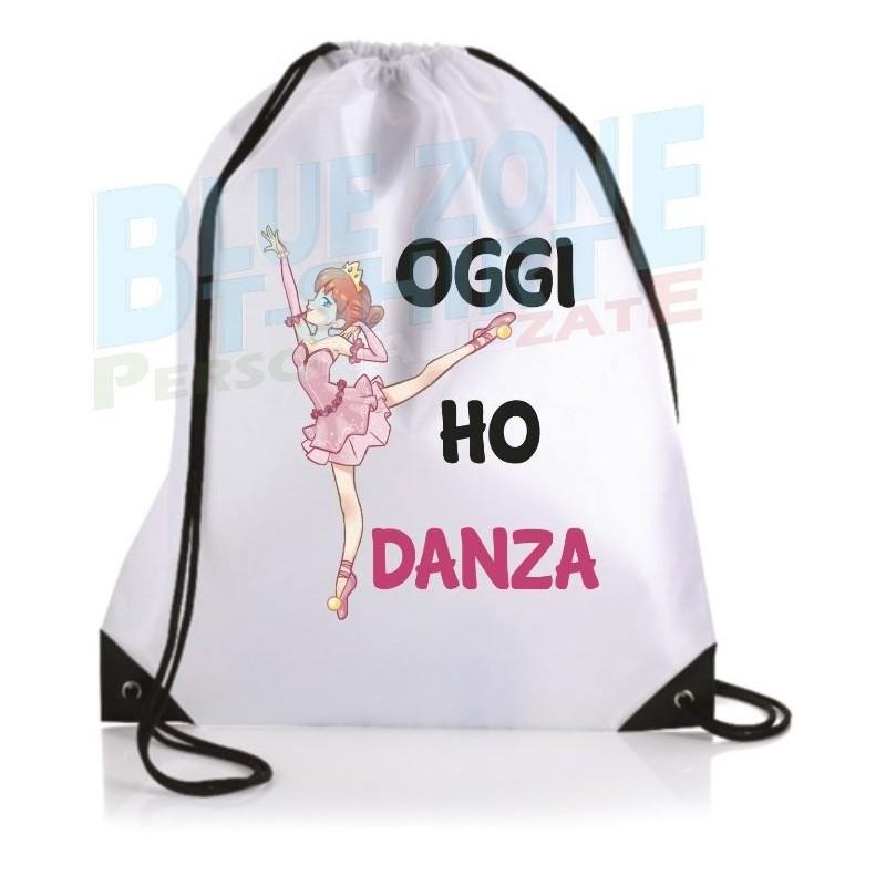 Oggi ho Danza sacca Ballerina Personalizzata