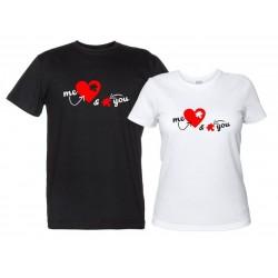 You & Me coppia magliette Love