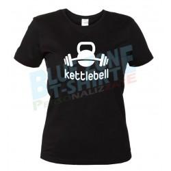 Kettlebell Maglietta Donna Palestra Fitness