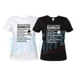 Regole per Barbecue Perfetto - Maglietta Donna BBQ Divertente