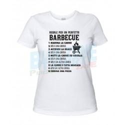 Regole per Barbecue Perfetto - Maglietta Donna BBQ Divertente bianca