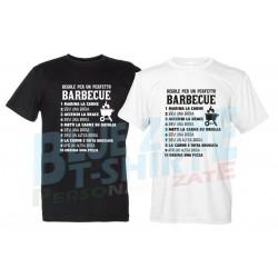 Regole per Barbecue Perfetto Maglietta Uomo BBQ Divertente