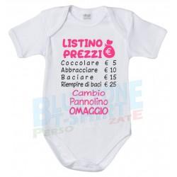 body neonato divertente listino prezzi cocccole bimba