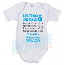 body neonato divertente listino prezzi cocccole bimbo