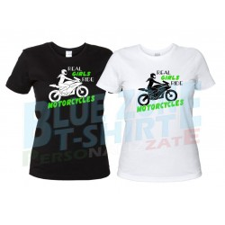 maglietta donna motociclista real girls ride motorcycles