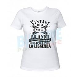 Cinquanta Anni Maglietta 50° Compleanno Donna bianca