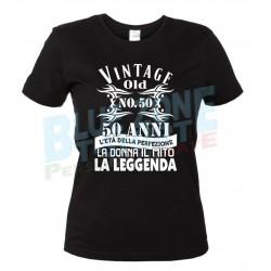 Cinquanta Anni Maglietta 50° Compleanno Donna nera