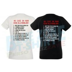 maglietta divertente barlady 10 cose da non dire
