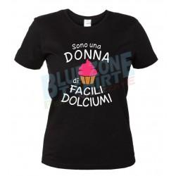 Sono una Donna di facili Dolciumi maglietta divertente nera