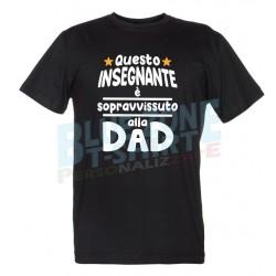 maglietta maestro insegnante sopravvissuto alla DAD nera