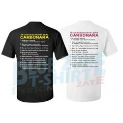 Maglietta 10 comandamenti della carbonara cucina romana