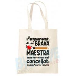 Shopper borsa maestra idea regalo scuola