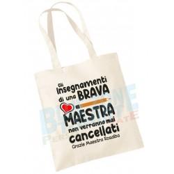 Shopper borsa maestra regalo scuola