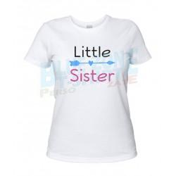 little Sister maglietta sorella bianca