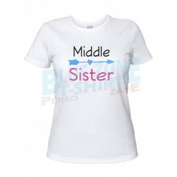 middle Sister maglietta sorella bianca