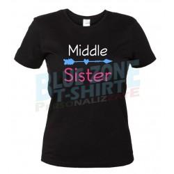 middle Sister maglietta sorella nera