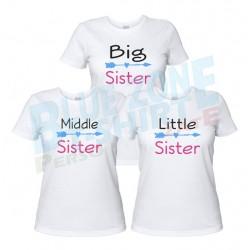 Sister magliette sorelle personalizzate bianche