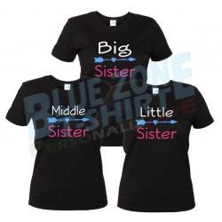Sister magliette sorelle personalizzate nere