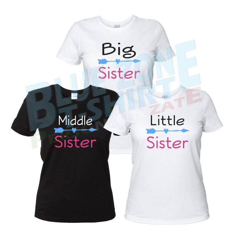 Sister magliette sorelle personalizzate