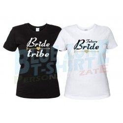 Bride Tribe - Magliette Addio al Nubilato Sposa e Amiche bianche e nere