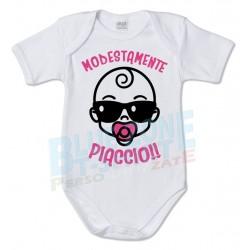 body neonato divertente modestamente piaccio bimba